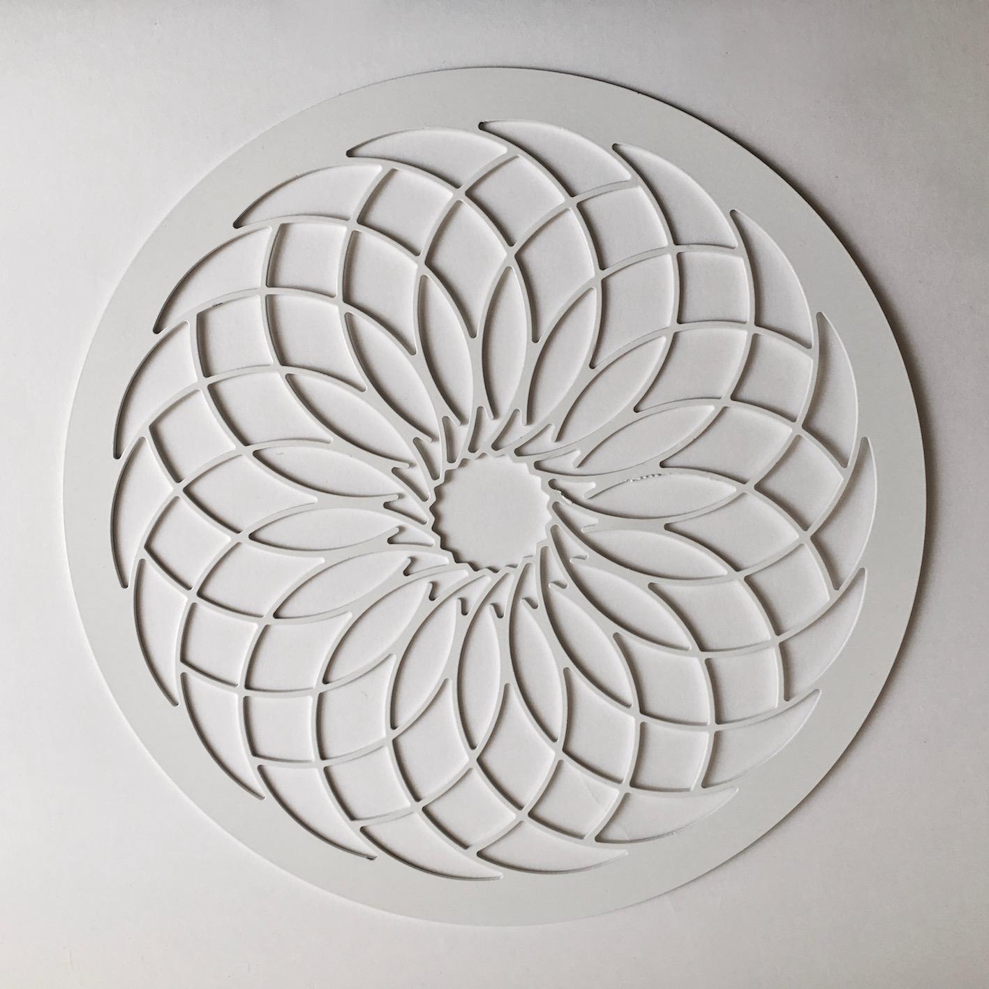 Erika Delia Design Crochet Sottopiatto Uncinetto In Metallo