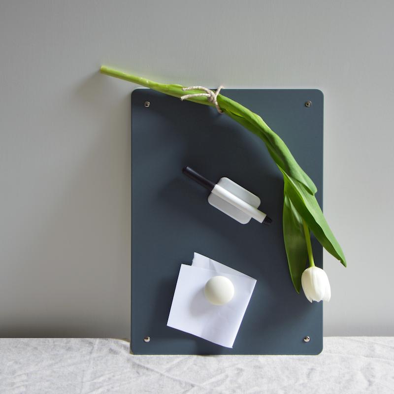 Erika d 39 elia design lavagna magnetica in metallo per cucina casa ufficio erika d 39 elia design - Lavagna magnetica per cucina ...